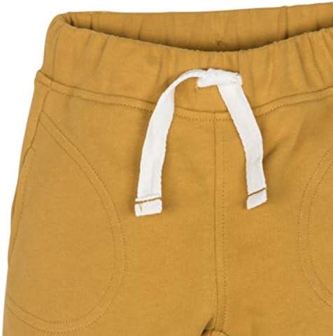 Pantalone Tuta Sportivo Neonato Bambino Colore Senape Cotone Organico