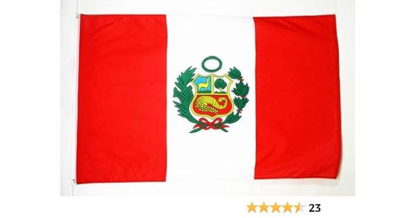AZ FLAG Bandera de PERÚ 90x60cm - Bandera PERUANA 60 x 90 cm: Amazon.es: Hogar