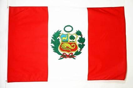 AZ FLAG Flagge Peru 150x90cm Peruanische Fahne 90 x 150 cm feiner Polyester flaggen