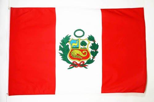 PERU FLAG 3' x 5' - PERUVIAN FLAGS 90 x 150 cm - BANNER 3x5 ft - AZ FLAG