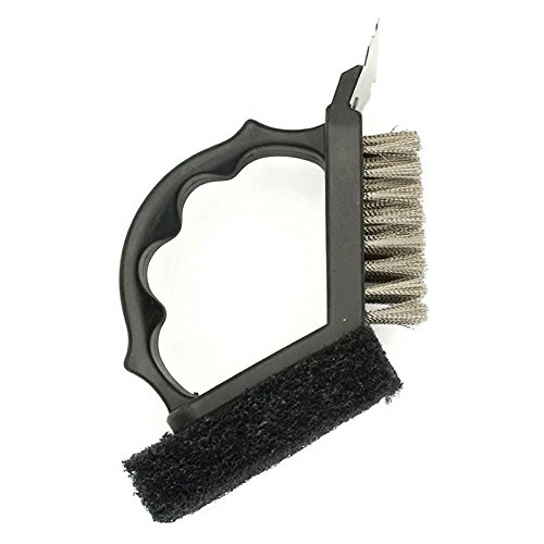 - Charcoal Companion 2-in-1 Grill Brush with Black Plastic Handle