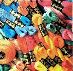 DMC 447 Skeins Cotton Cross Stitch Thread 8 meters each from DMC