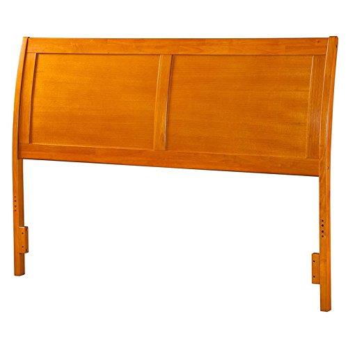 Atlantic Furniture Portland King Sleigh Headboard in Caramel ()