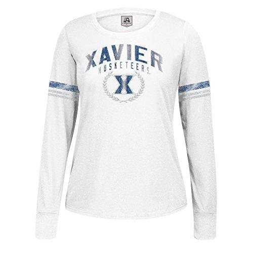 Ncaa Xavier Musketeers Womens Long Sleeve Laurel Essential Tee  White  Small