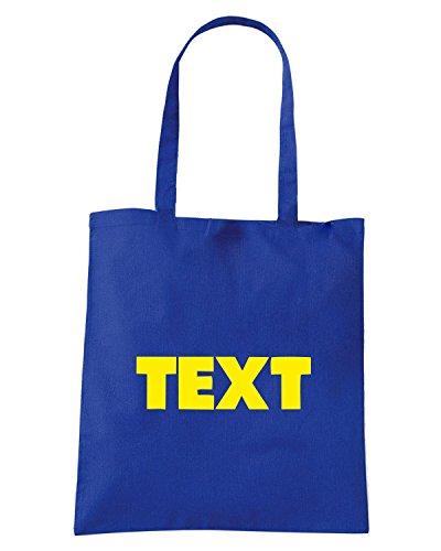 T-Shirtshock - Bolsa para la compra FUN1262 dookie rope chain custom hip hop t shirt Azul Real