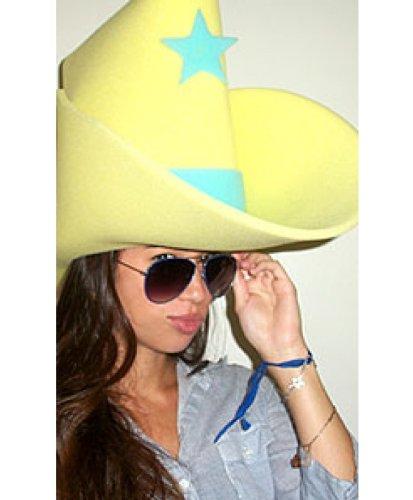 54a58ffcb Windy City Novelties Giant Yellow Foam Cowboy Western Party Hat ...