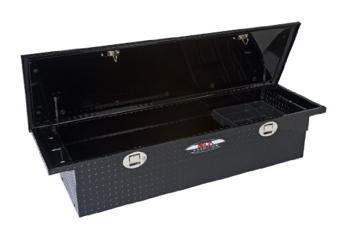 Delta 1-351002 Black Aluminum Low Profile Single Lid Fullsize Crossover Truck Box with Gear-Lock