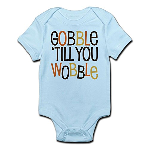 ny Gobble Till You Wobble Baby Thanksgiv - Cute Infant Bodysuit Baby Romper ()