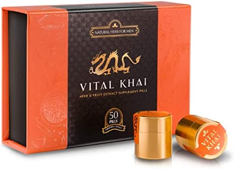 Vital Khai Box – Natural and Herbal Supplement for Men – Increase Energy, Stamina and Health Full Box, 50 Supplements