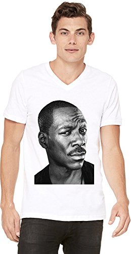 Eddie Murphy Stand Up Comedian Thousand Words Mens V-neck T-shirt X-Large - Eddie Murphy Actor