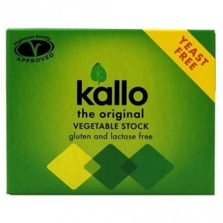 Kallo - Yeast Free Vegetable Stock Cubes - 66g (Case of 15) by Kallo