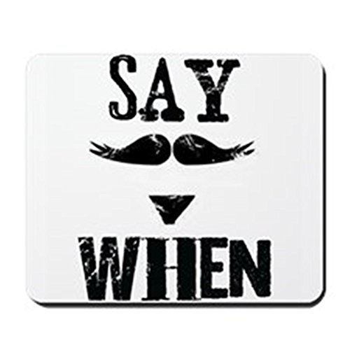 CafePress - Say When Mousepad - Non-slip Rubber Mousepad, Gaming Mouse Pad (Cartoon Tombstone)