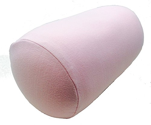 Squishy Soft, Microbead Cushie Neck Roll Pillow, Home and Travel- Removable Cover Pink