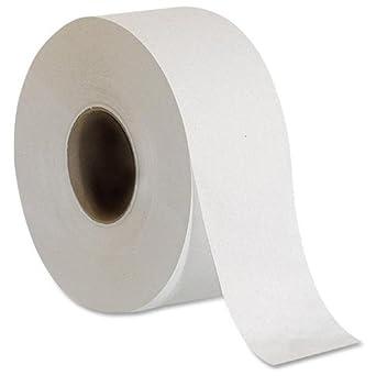 genuine joe gjo2506008 2 ply embossed jumbo roll bathroom tissue white case of - Bathroom Tissue