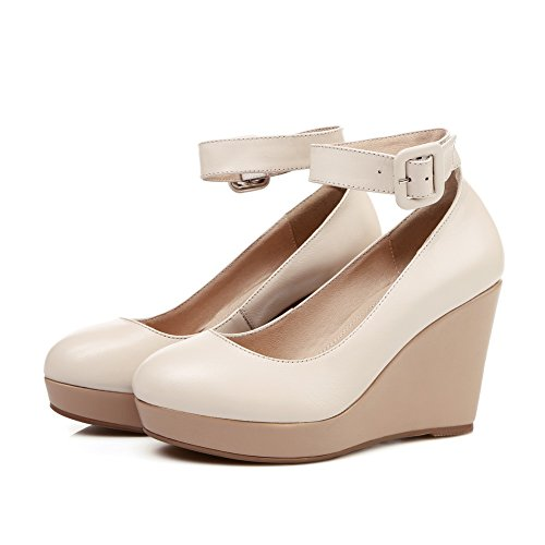 1TO9Mms05562 - Con Plateau donna, Beige (Nude), 35