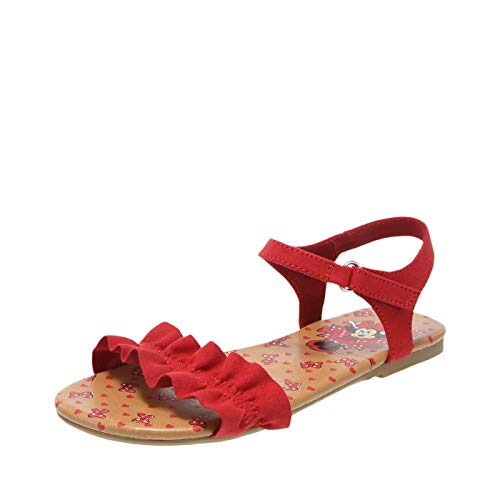 Red Girls Sandals - Minnie Mouse Bowtique Red Girls Ruffle