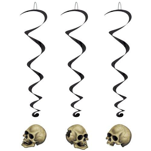 Beistle 00783 Skull Whirls Pkg