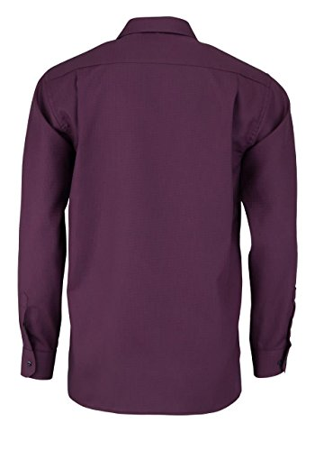 ETERNA Comfort Fit Hemd extra kurzer Arm Struktur weinrot AL 59