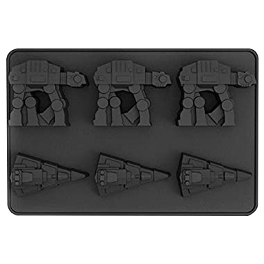 Star Wars Silicone Ice Cube Trays - Imperial Star Destroyer and AT-AT - Food Grade Silicone for Baking and Chocolate