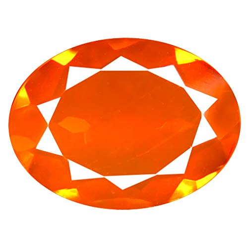 2.04 ct Oval Cut (13 x 10 mm) Mexican Orange Red Fire Opal Natural Genuine Loose Gemstone ()