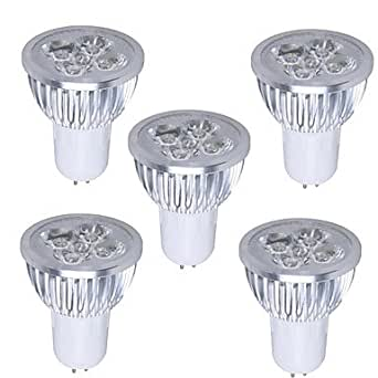 Patadas 5 piezas GU5 3,5 W 350-400LM 3000-3500K luz blanca cálida Bombilla Foco LED colores (85-265v)