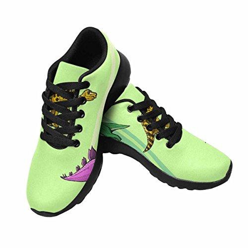 Interestprint Femmes Piste Chaussures De Course Jogging Sport Léger Marche Athlétisme Sneakers Dinosaure Park Multi 1