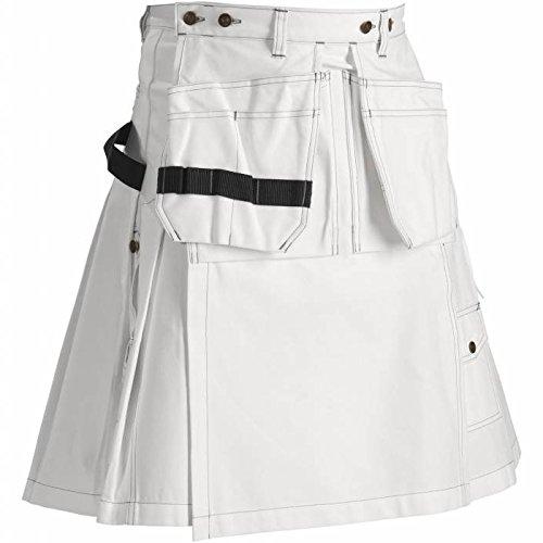 Blakläder 856612101000C48 Artisan Kilt Taille C48 Blanc