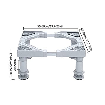 with Wheeled1 Refrigerator Base Stand Heightening Stainless Steel Refrigerator Shelf Holder For Adjustable Dryer VOVI Fridge stand Adjustable Multi-functional Base Washing Machine And Refrigerator