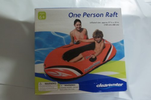 clearwater - one person raft - inflated size is 57 inches
