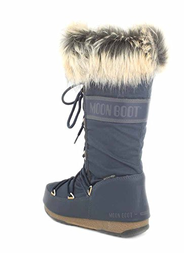 Tecnica Monaco e Waterproof Moon Fur Womens Winter Denim Boot Wp Azul W Boots Faux adZ4dxqR