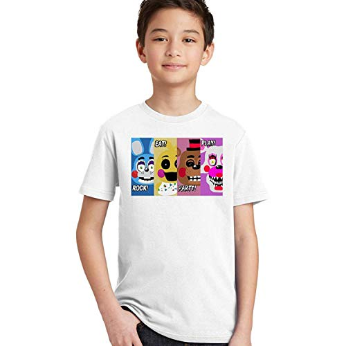 - KoreaFashion FNAF Shirt Cotton Merch Shirts for Kids Youth Birthday Welcome Funny Nightmare Accessories