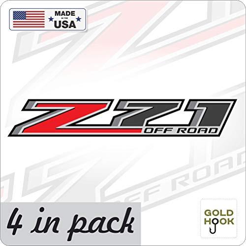 GOLD HOOK Z71 Off Road Decal | Replacement Sticker | Chevy Silverado | GMC Sierra | Truck 4x4 ()