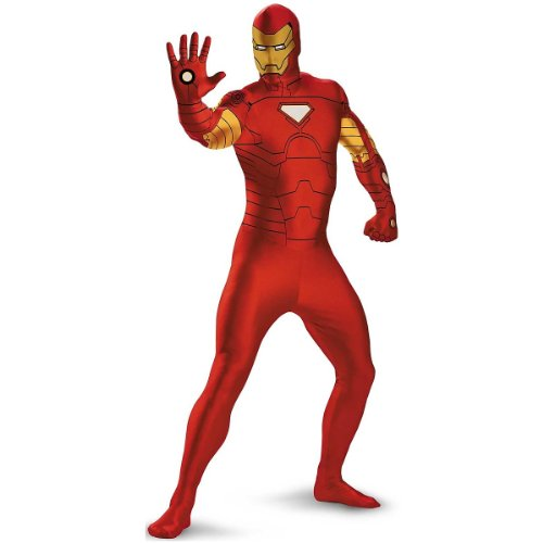 Authentic Iron Man Suit (Deluxe Superhero Full Bodysuit Adult Costume Iron Man - Red and Gold - X-Large)