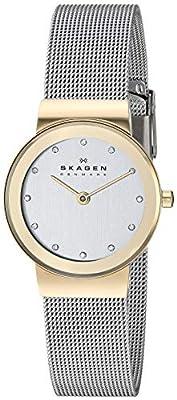 Skagen Women's 'White Label' Quartz Stainless Steel Dress Watch, Color:Silver-Toned (Model: 358SGSCD)