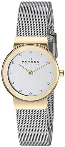(Skagen Women's Ancher Quartz Two-Tone Stainless Steel Casual Watch, Color: Gold and Silver-Tone (Model: 358SGSCD))