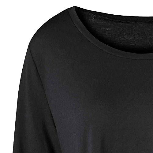 Camicia Donna Schwarz Corta Taglie Maniche Battercake Shirt Forti Casuale Donne T Autunno Manica Lunghe Bicolore K5l1FuTJc3