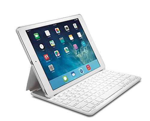 Kensington K97386US KeyFolio Thin X2 Folio Keyboard Case for Apple® iPad® Air 2 White