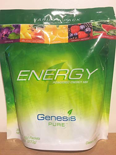 Genesis Pure Powdered Energy Drink Stick Bag Variety Mix