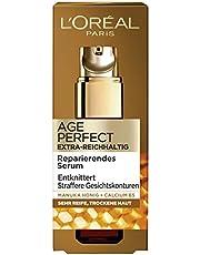 L'Oréal Paris Serum, Age Perfect Extra rijkhoudend, anti-aging serum, ontvouwen en verstevigen, voor zeer rijpe en droge huid, met Manuka-honing en calcium B5, 30 ml