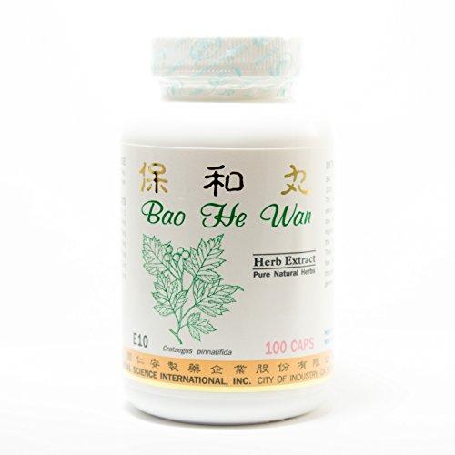 Bao He Digestant Dietary Supplement 500mg 100 capsules (Bao He Wan) E10 100% Natural Herbs