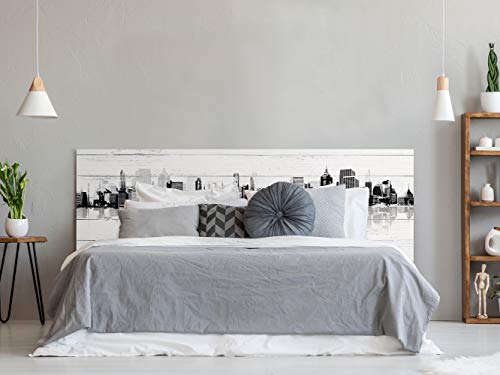 Cabecero Cama PVC Impresion Digital | Edificios con Sombra 150 x 60 cm | Cabecero Original y Economico