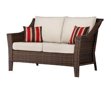 Enjoyable Amazon Com Rolston 4 Piece Wicker Patio Converstaion Set Creativecarmelina Interior Chair Design Creativecarmelinacom
