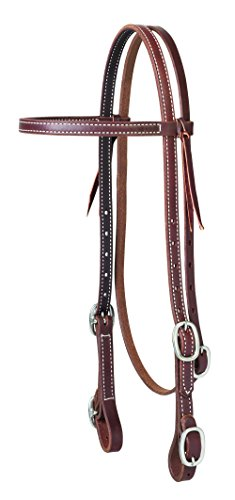 Weaver Leather Working Tack Browband Headstall with Buckle Bit Ends
