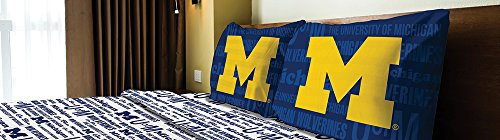 The Northwest Company Michigan Wolverines Full Sheet Set