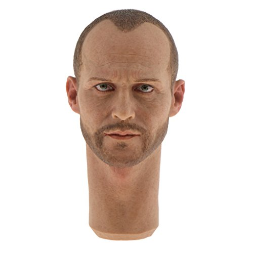 Jili Online 1/6 Male Head Sculpt for 12 inch Jason Statham Action Figure Body Accessory