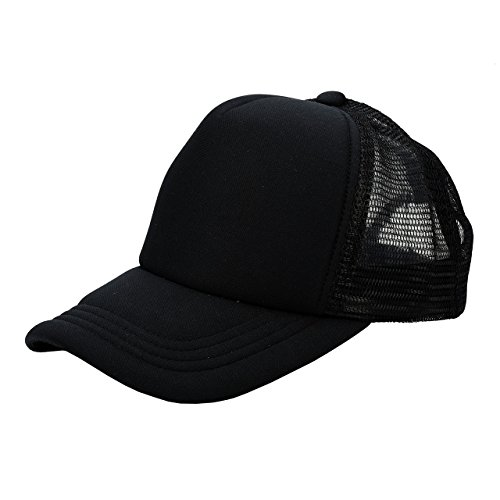 Ayliss Two Tone Trucker Hat Summer Mesh Cap With Adjustable Snapback - Trucker Snapback Black