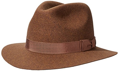(Pantropic Men's Hunter Lite Felt Fedora Hat, Rust,)