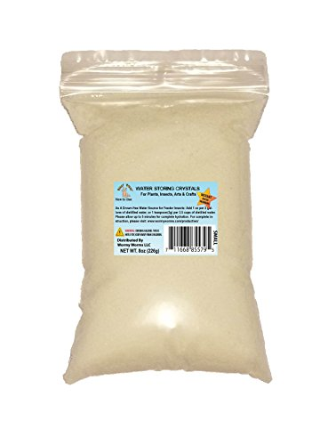 8oz Small Instant Water Storing Crystals Soil Moist Quencher for Crickets Roaches Worms etc …
