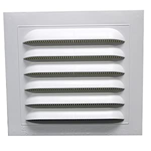 Duraflo 620808COMB Combination Gable Vent, 8-Inch X 8-Inch