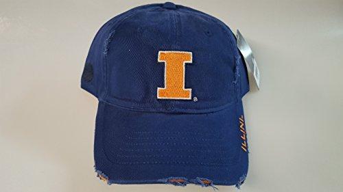 Illinois Buckle - New Illinois Illini Blue Pre-Ripped Buckle Hat